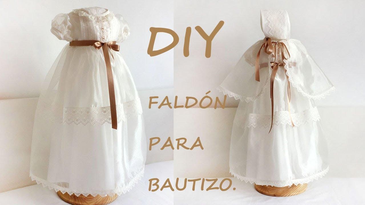 Como hacer un faldón de bautizo para niño y niña. Costura y patrón ...