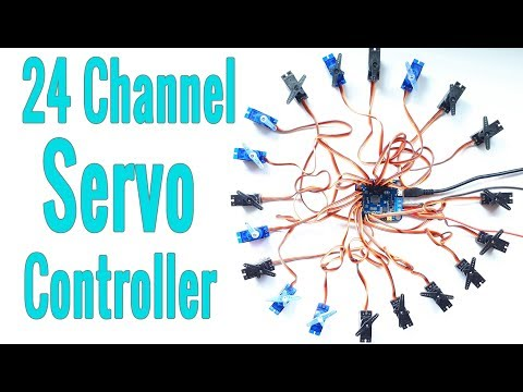 24 Channel Servo Driver Controller   How to use ?   Arduino Compatible