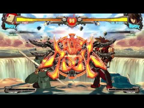 GUILTY GEAR Xrd REV2 ElvenShadow(Faust) Vs. JuicyG(Sol) Match 3