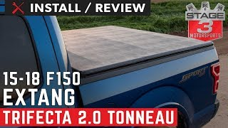 2015 2018 F150 Raptor 5 5ft Bed Extang Trifecta 2 0 Tri Fold Tonneau Cover Install And Review Youtube