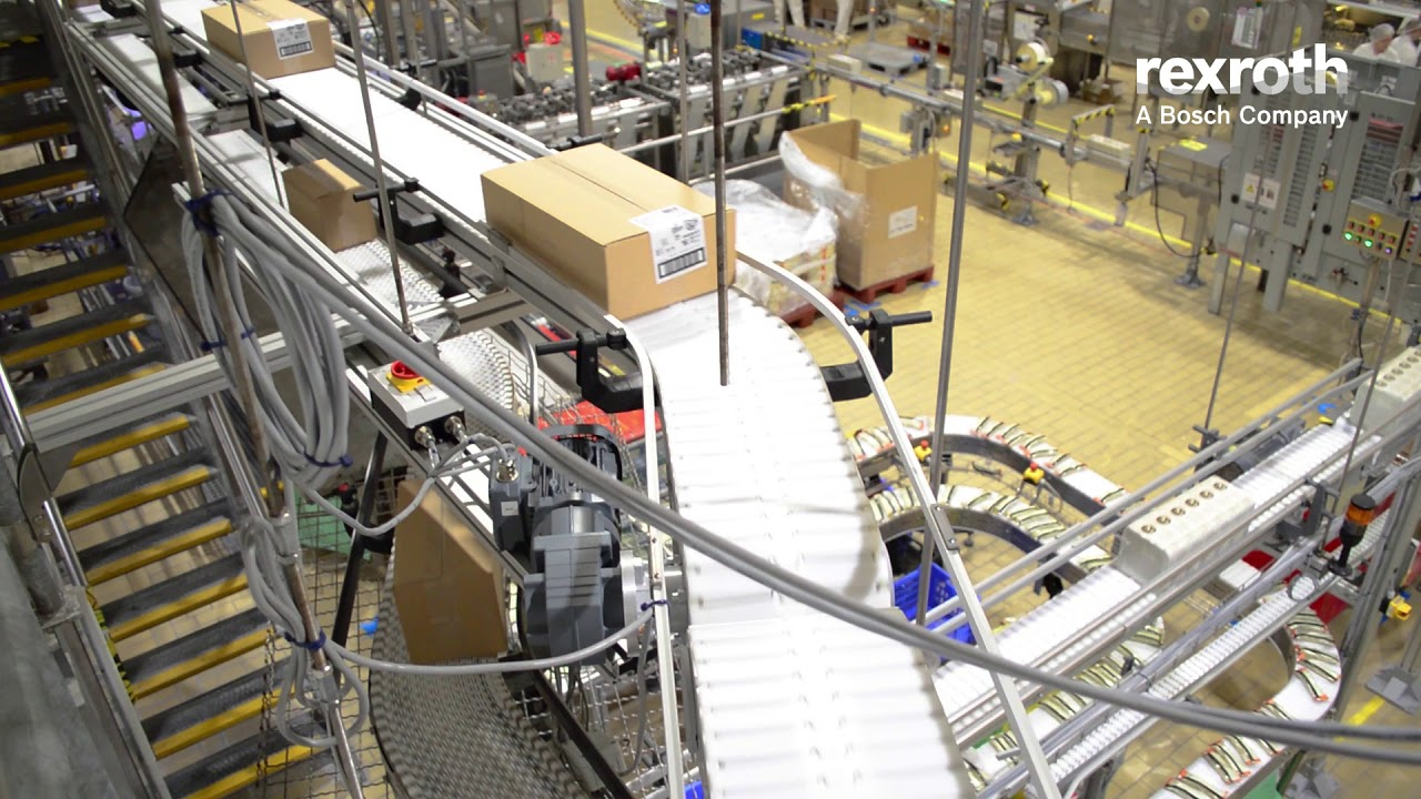 Bosch Rexroth VarioFlow plus szállítópálya-rendszer - Unilever Magyarország Kft.