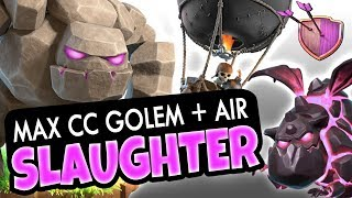 MAX CC GOLEM AT TH9 is BEAST - AIR SLAUGHTER!