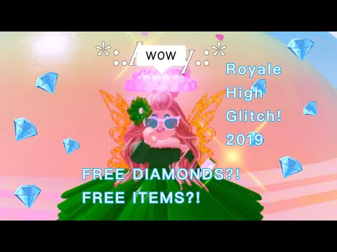 ROBLOX Royale High  Free Diamonds Glitch💎 - GETTING ITEMS FOR FREE?! 2019