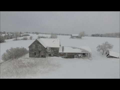 Drone Flight over New Brunswick Winter