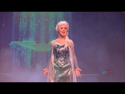 Elsa, Anna, Kristoff perform Let It Go in Frozen sing-along stage show finale at Walt Disney World
