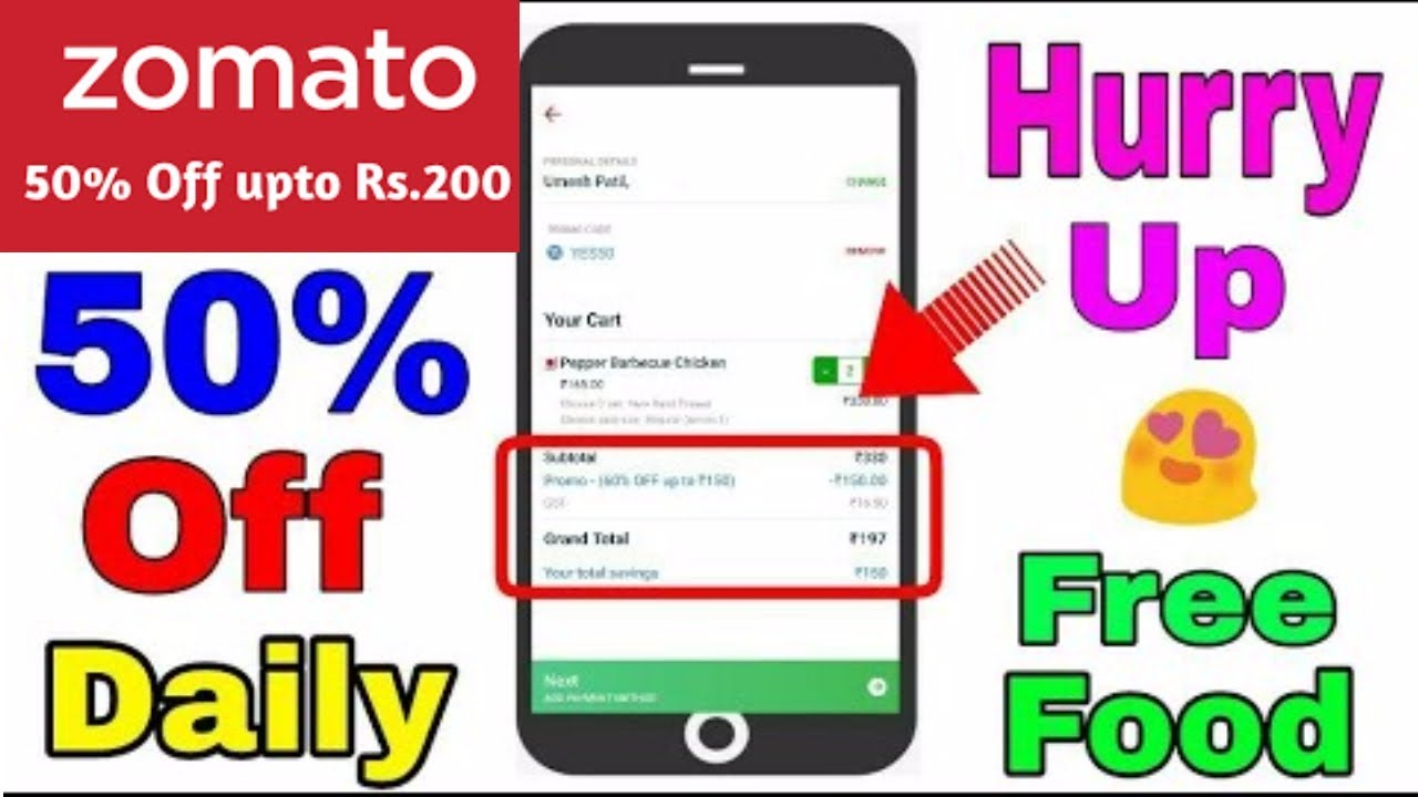 Zomato 50 Ii 100 Off Ii Zomato Loot Promo Codes Get 100 Discount In November 2018 Order Online Youtube
