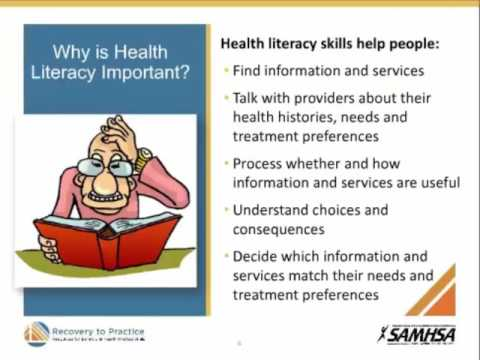 Integrated Care: The Contribution of Health Literacy to Recovery-oriented Care