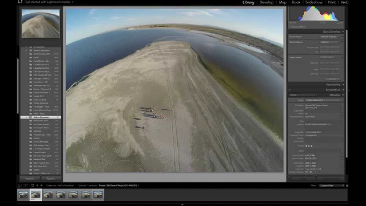 How to correct the GoPro lens distortion (fish eye effect) on photos