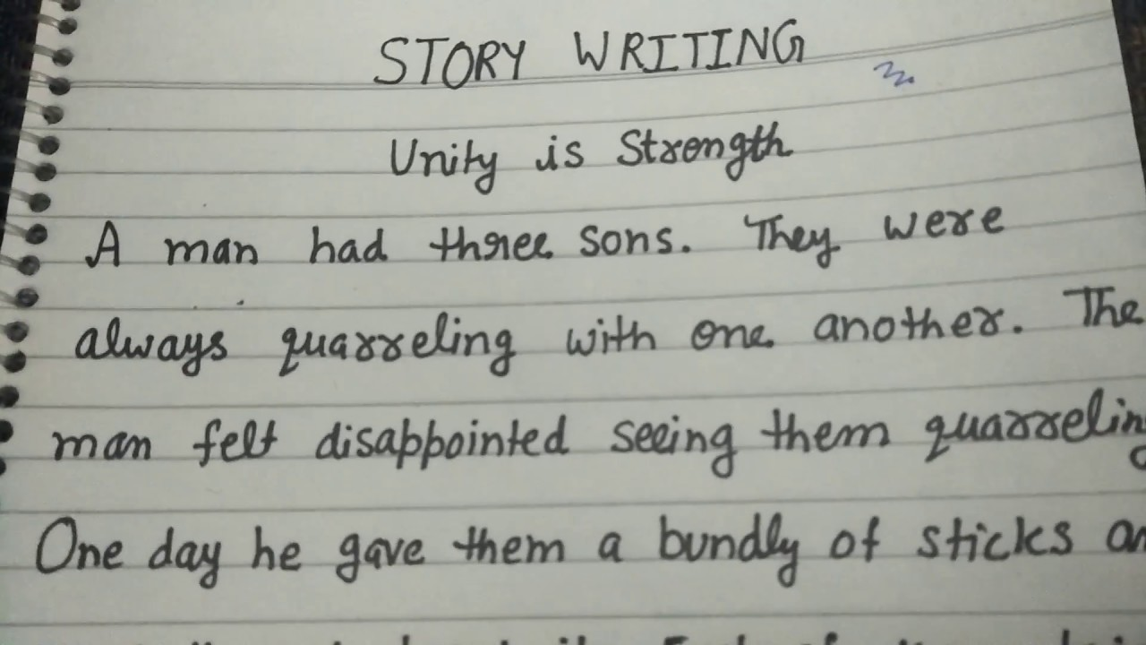 Unity is strength paragraph writing