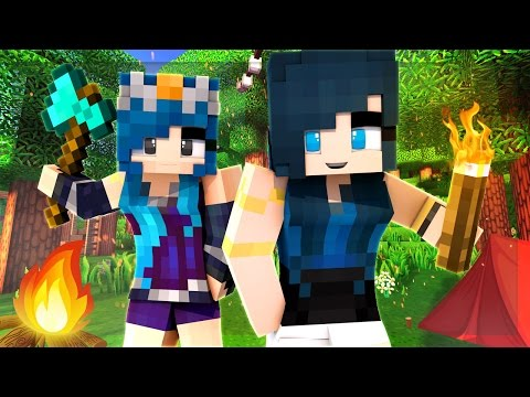 Minecraft Camping - THE CREW GOES CAMPING FOR THE FIRST TIME