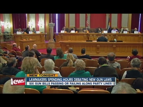 6 gun bills passing or failing along party lines