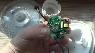 Обзор led лэд светильника на 7W 6000k с датчиком освещенности и движения