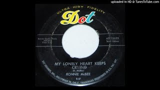 "Ronnie McBee-""My Lonely Heart Keeps Crying/I'll Be Waiting for You"" 1957 ROCKABILLY 45"