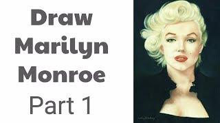 Draw Marilyn Monroe - Part 1 - Pastel Pencils