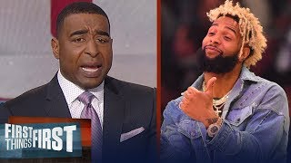 Cris Carter's message to Odell Beckham Jr: I'm so disappointed, grow up | FIRST THINGS FIRST