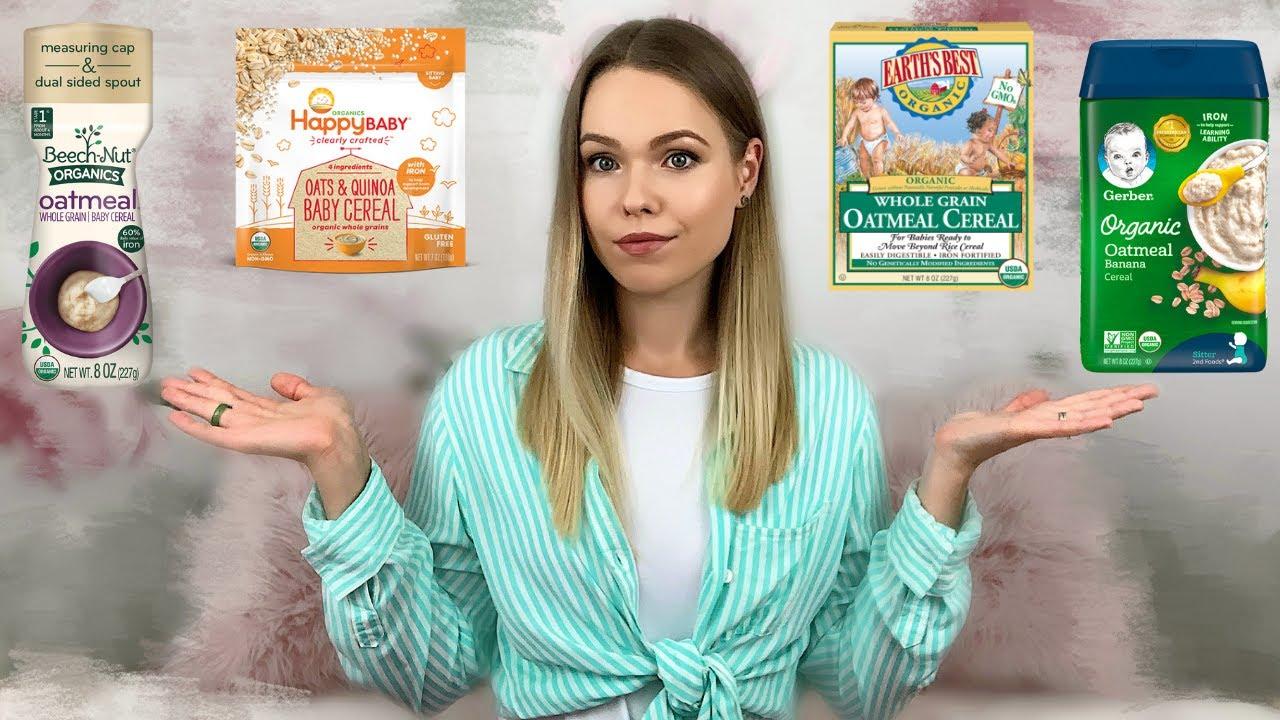 THE BEST BABY CEREALS: Gerber, Beech Nut, Happy Baby & Earth's Best | Healthy Baby Cereals Review