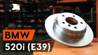Как се сменя Комплект спирачни дискове на BMW 5 (E39) - видео ръководство