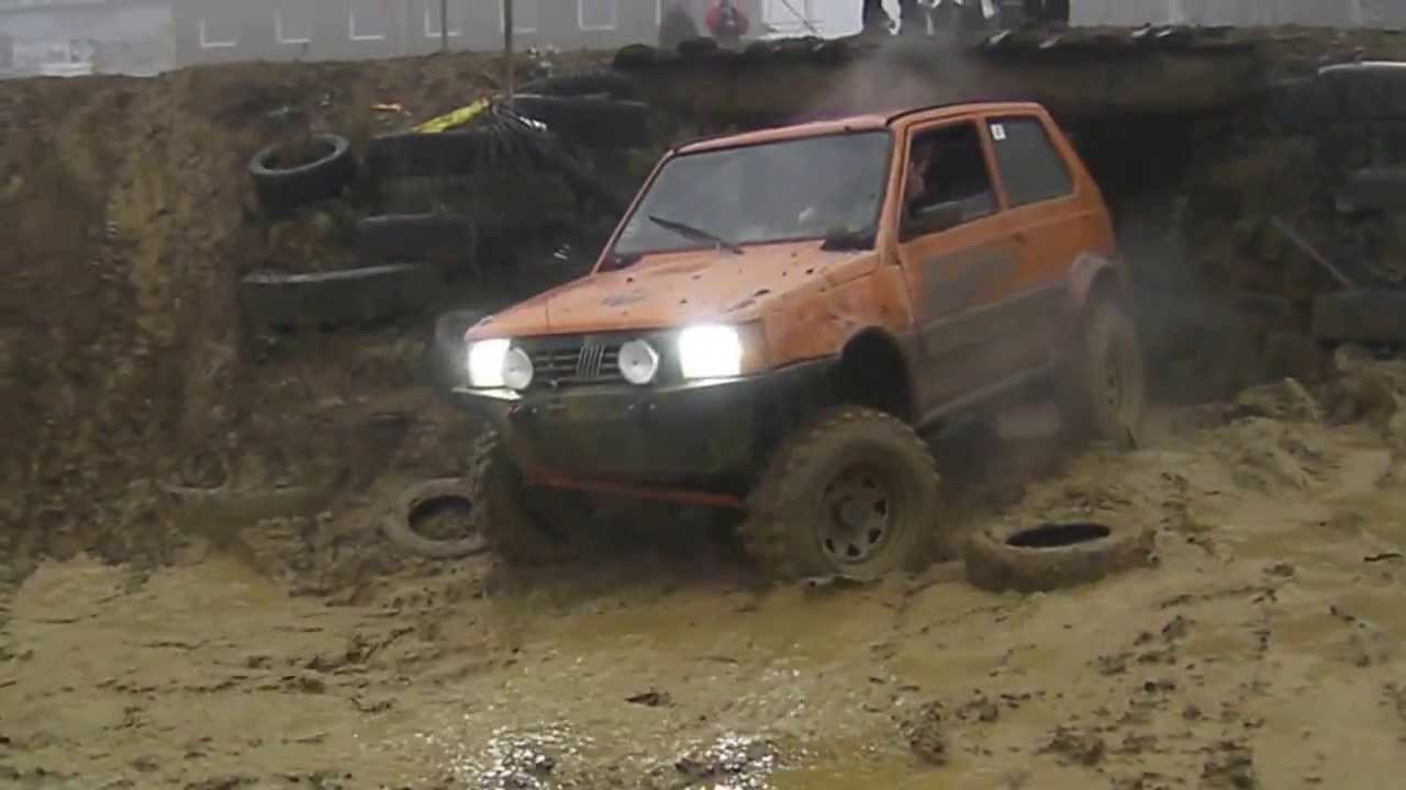 Fiat panda 4x4 upraven sampander prechod brodom off road for Panda 4x4 sisley off road