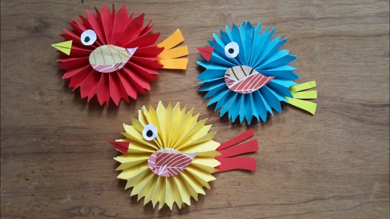 DIY Paper Birds For Decoration Kids Birthday Idea Best Easy Craft