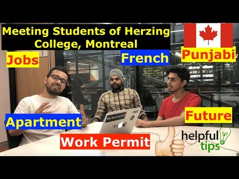 Meeting Punjabi Students of Herzing College, Montreal. Jobs, French, Work Permit