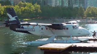 Twin Otter Seaplane Engine Startup and Takeoff