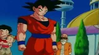 Goku les dice a Milk, Bulma, y a los demás que Gohan y Vege...