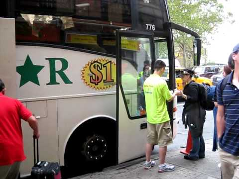 chinatown bus video 5: Lucky Star bus NYC to Boston