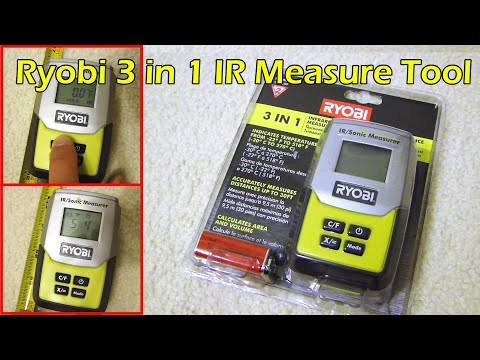 Ryobi 3 in 1 Measurement Tool - Infrared Thermometer / Sonic Distance Measurer / Laser Pointer