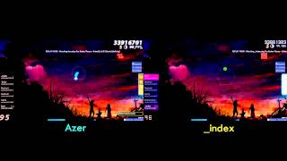 [osu!] Pro Player Replay - Azer vs _index (Our Stolen Theory - United (L.A.O.S Remix) HR