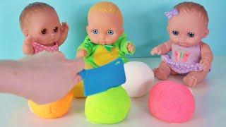 Куклы Пупсики открывают сюрпризы Маша и Медведь, Фиксики /Кинетический песок на канале Зырики ТВ