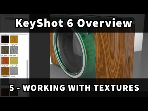 KeyShot 6 Overview: 5 - Working with Textures