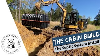Modern Homesteading- Cabin Build: Septic System Install (S1 Ep32)