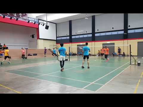 Badminton Friendly Match Eajoy & Darul Vs FBT KERAMAT (second Game)