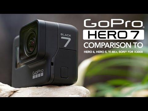 GoPro Hero 7 Black vs Hero 6, Hero 5, Sony FDR X3000 and YI 4K+ [4K]