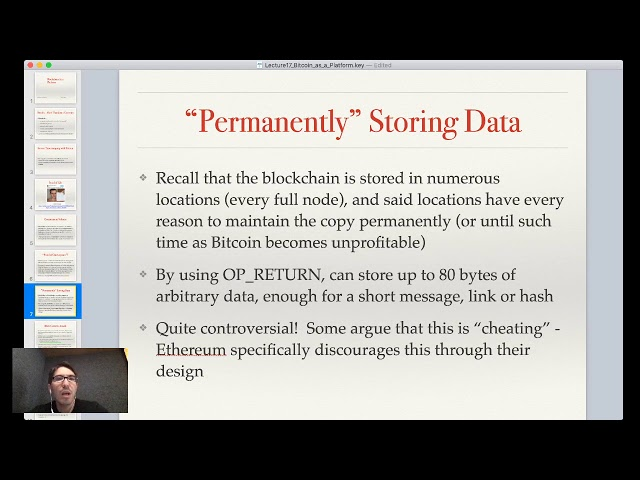 Lecture 16: Blockchain as a Platform