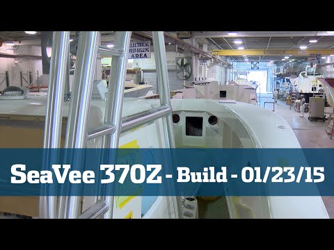 SeaVee 370Z Follow The Build Part #4 - Florida Sport Fishing TV