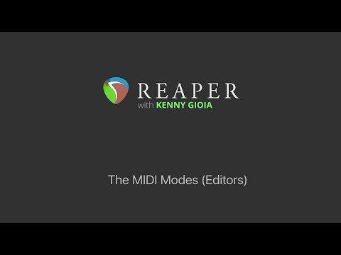 The MIDI Modes (Editors) in REAPER