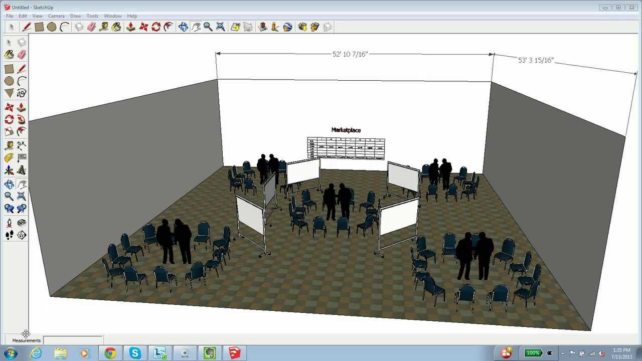 How to use sketchup to create an event layout youtube for 3d plan maken