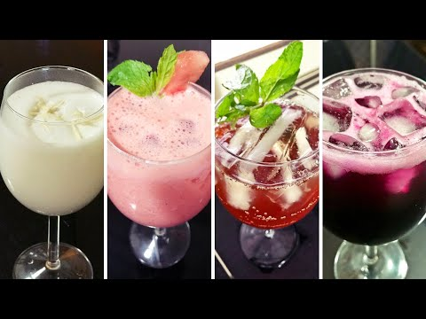 SUMMER DRINKS / Coconut Coolant / Watermelon Lassi / Iced Tea / Grape Splash