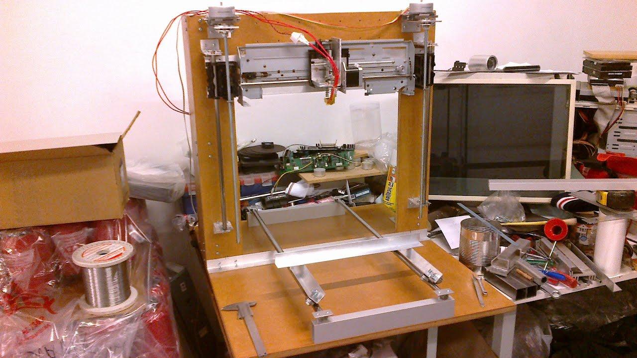 Impresora 3d casera con partes recicladas 2ra parte for Videos de impresoras 3d