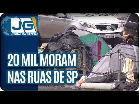 20 mil moram nas ruas de São Paulo