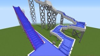 The largest water PARK ATTRACTIONS IN the MINECRAFT MAP WATER SLIDE / Minecraft Water Park