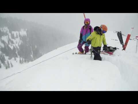 How to Make a Snow Bollard Anchor - Ski Mountaineering Tips