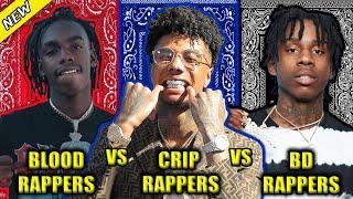 BLOOD RAPPERS VS CRIP RAPPERS VS BLACK DISCIPLE RAPPERS 2020