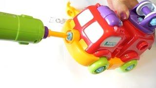 Fire Trucks For Children Kids. Fire Trucks Responding.  Construction Game  Cartoons For Children