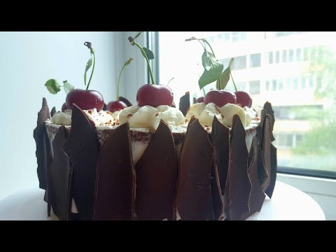 """Торт """"Черный лес""""🍒Шварцвальд🍒 Black forest cake #янабенрецепты"""
