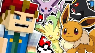 Minecraft | BATTLING ALL OF THE EEVEES!! - Pokemon Craft