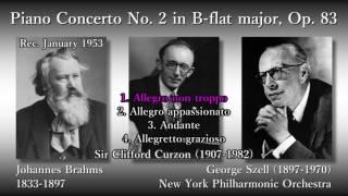Brahms: Piano Concerto No. 2, Curzon & Szell (1953) ブラームス ピアノ協奏曲第2番 カーゾン