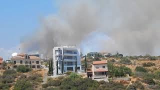 Пожар в Гермассойе 19 июля 2018 года