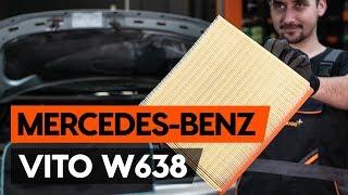 Cómo cambiar Filtro de aire motor MERCEDES-BENZ VITO Bus (638) - vídeo gratis en línea